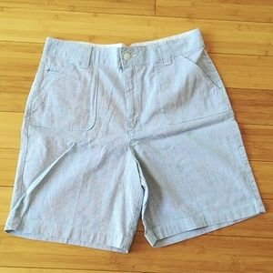 # Rider's Pinstripes Casual Shorts